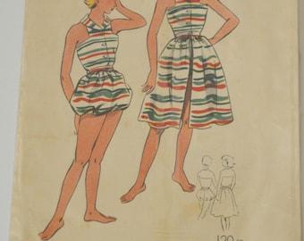 """vintage sewing pattern """"Le Patron de Paris"""" n 113 (set of beach to teen) 50s/60s"""