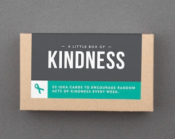 "Kindness Gift Basket Stuffer, Kit. Mother's Day, Birthday. Compassion, Self Care, Box of Cards, Notes. Be Kind, Generous. ""Kindness"" (L5KIN)"