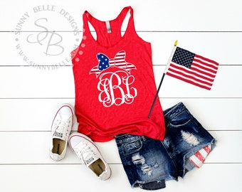 4th of July Tank // Independence Day Tank // Ladies patriotic top // summer top // racerback tank // next level // gym clothes // pool shirt