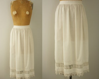 1910s apron | antique cotton half apron