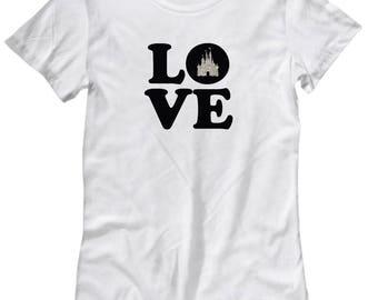 Love Magic Castle Shirt for Women Gift Fan Fanatic Magical Mouse Kingdom Shirts
