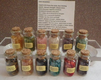 Healing Gemstones and Crystals By The Bottle and Meanings
