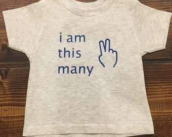 I Am This Many, Kids' Tee, Soft Blend