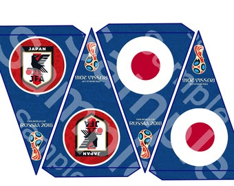 Japan World Cup Banners 2018 Fifa bunting