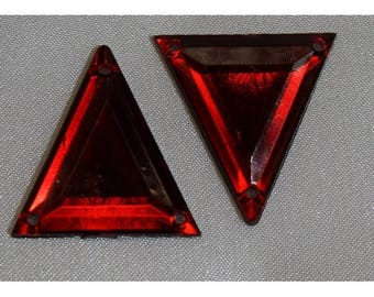 rhinestone acrylic-26 mm - Red