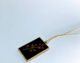 Pressed Wildflower Necklace