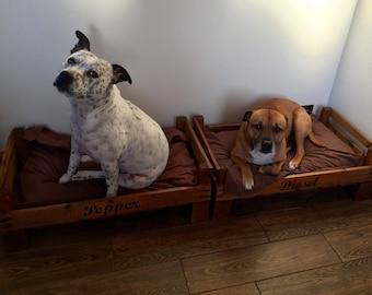 Vintage Handmade Crate Pet Bed
