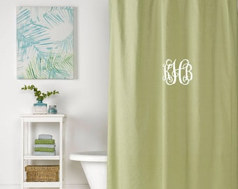 Linen Shower Curtain (Spring Green)