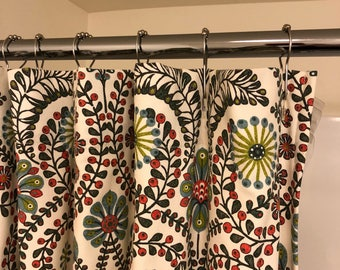 Custom Shower Curtain From Your Own Fabric