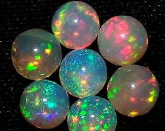 Natural Ethiopian Opal Round Balls Welo Opals 5mm round balls Drilled /Undrilled with free shipping