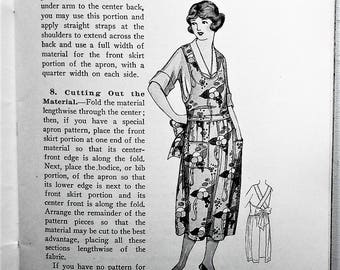 Aprons and Caps 1922 Woman's Institute of Domestic Arts & Sciences - vintage antique 1920s needlework dressmaking sewing book- sun bonnets
