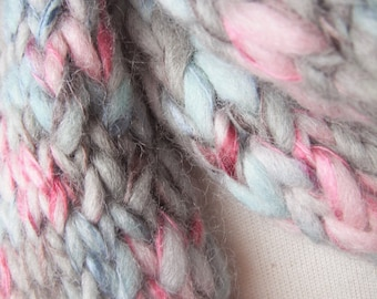 Watercolour Handknitted Scarf - Multicoloured Soft Winter Cosiness