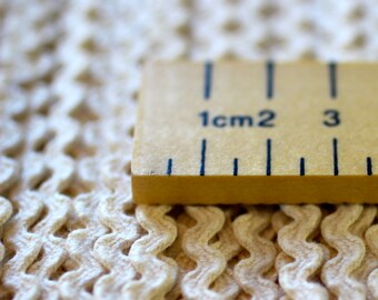 Rick Rack Trim in 5mm Width Made From 100% Organic Cotton