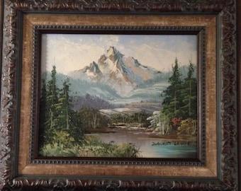 Joachim Lange Landscape Mountain Painting