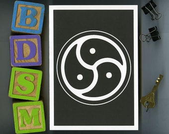 BDSM Triskelion - Greeting Card