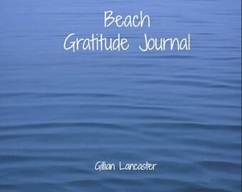 Beach Gratitude Journal, beautiful photos of the sea, daily gratitude prompts
