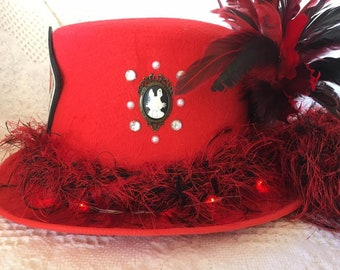 Red Alice in Wonderland Tophat