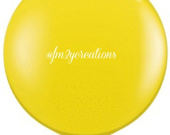 """36"""" Round Balloon Yellow   3 Foot Round Balloons   3' Round Latex Balloons   Yellow Baby Shower   Large Solid Color Latex Balloon   Birthday"""
