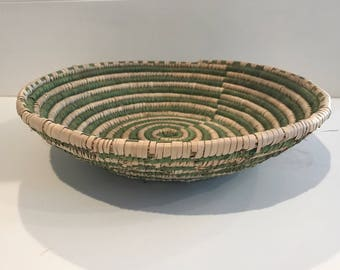 Green and Natural woven basket