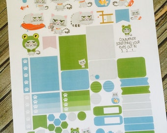 Weekly Planner Sticker Set Sarcastic Cat