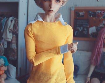 BJD Yellow faux layered Sweater