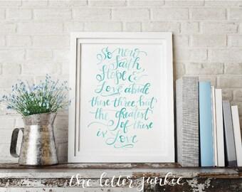 The Greatest is Love Art Print