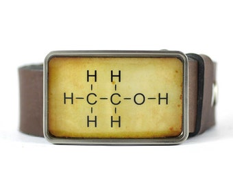 Alcohol Belt Buckle, Molecule Belt Buckle, Science belt buckle