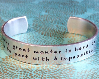 Mentor Gift | Sponsor Gift | Teacher Gift | Godmother | A truly great mentor is hard to find, difficult to part with & impossible to forget.