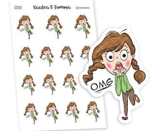 OMG Planner Stickers, Vaalea - S0380-381