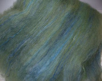 Wool Faux Cashmere Batt for Hand Spinning Yarn