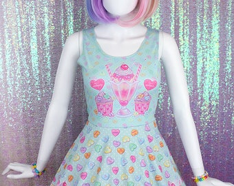 "Mint ""Lovely Candy Heart"" Dress"