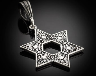Silver Star Of David Pendant .925 Sterling Silver Jewish Star of David Pendant