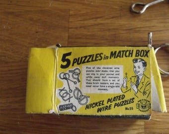 Vintage 5 Puzzles in a Matchbox 1950