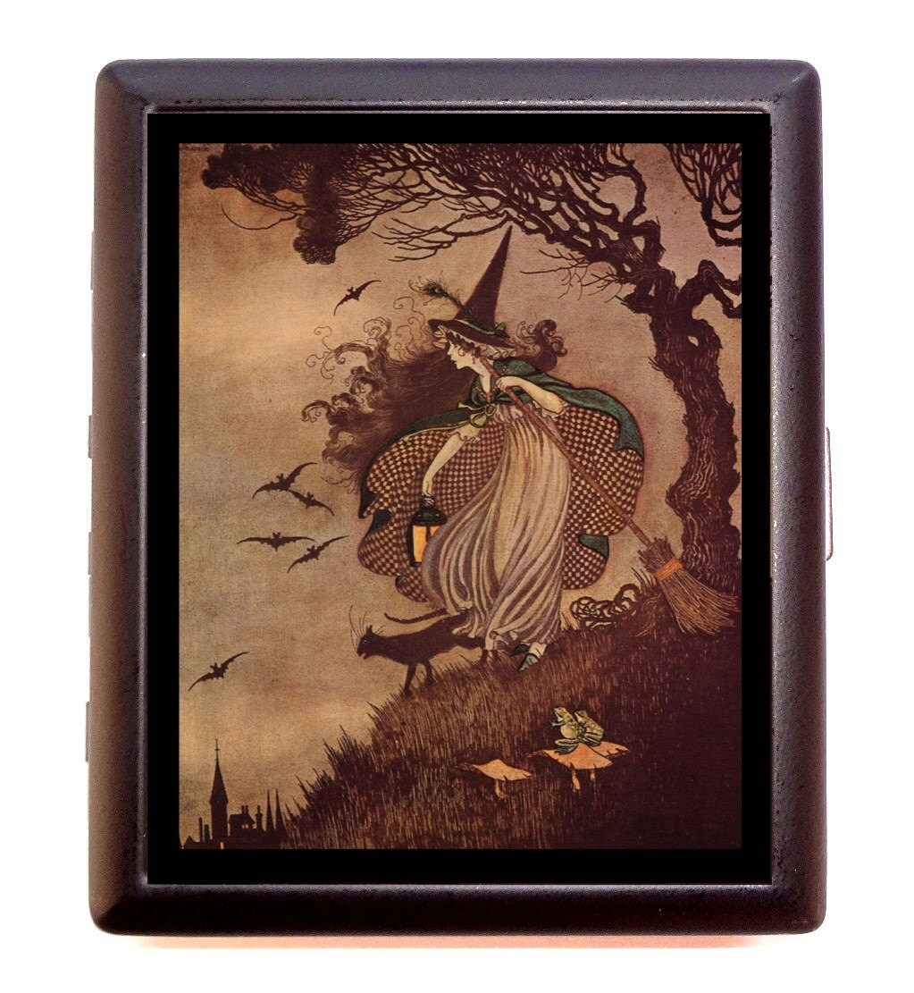 Halloween Witch Cigarette Case Ida Rentoul Outhwaite Story