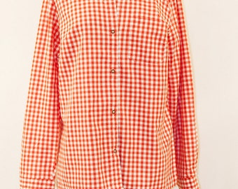 80s Red gingham shirt