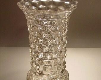 Fostoria American Large Flared Glass Flower Vase, Clear, Elegant, Home Decor