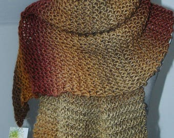 FALL * Phildar wool scarf * unique - handmade - winter - Valentine's day gift idea