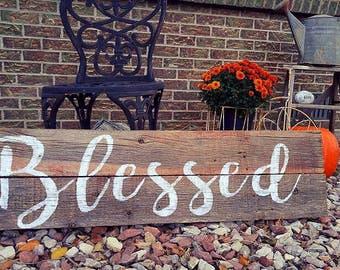 Barnwood Sign - Blessed