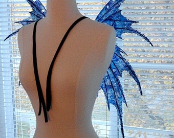 Fairy Wings-Iridescent-Blue Sprite Fairy-Adult/ Children (Made by Request)