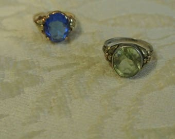 Choice of Two Old Rings with Stones