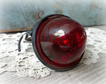 tail gate light vintage red glass beehive car truck auto parts