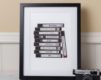 Personalised Favourite Film Movie Cinema TV VHS Video Tape Print