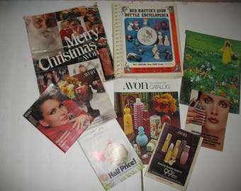 1971-84 Avon Sales Brochures/Catalogs; three large, Christmas, Fall/Holidays & Spring; PLUS 1977 Price and Identification Guide