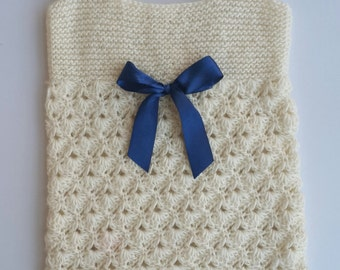 Baby vest, knitting baby vest, baby sweater, hand knit baby wear, green baby wear, baby clothes, hand knitted vest, green vest, baby wear