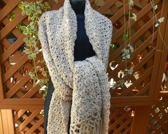 Oatmeal Beige  Shawl Wrap Stole My Best Seller  Perfect for a Gift