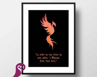 The Order of the Phoenix Poster | Harry Potter | Wall Art | Wall Decor | Home Decor | Prints | Poster | Digital Paper | Digital Download