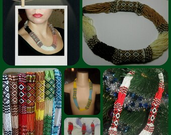 Ukrainian beaded necklace Gerdan Ukrainian embroidery Jewelry Ukrainian Ukrainian ethnic necklace red necklace coral Ukrainian Weaving beads