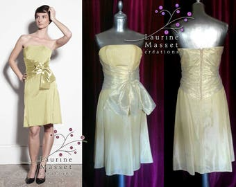 Yellow and gold Tulip cocktail dress