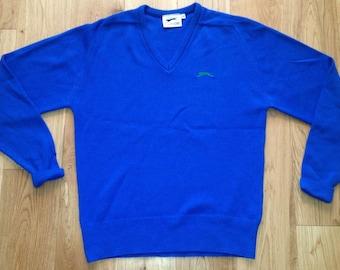 9a8c16a4f43 Slazenger Golf Jumper Sweater Adult retro vintage Blue 1980s - 90s