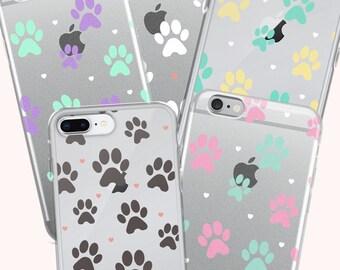 Cute Dog Puppy Paws Iphone  6 s 7 8 Plus X Phone Case Samsung Galaxy Pet -Paws Kawaii Tumblr Pastel Pets Colorful Phone Case - Szani Lee -